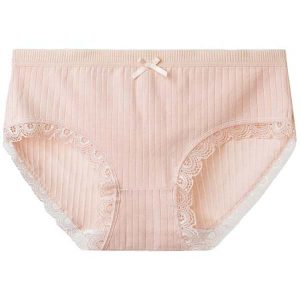 Antibacterial Mid Rise Cotton Panties with Lace