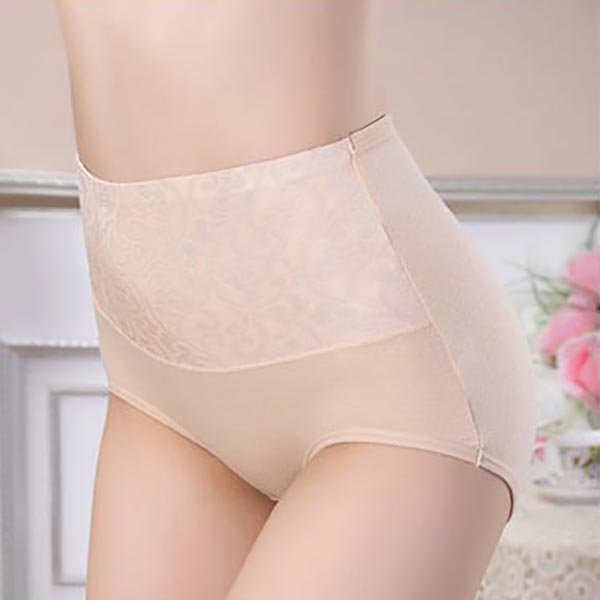 High Rise Jacquard Cotton Panties - Front View