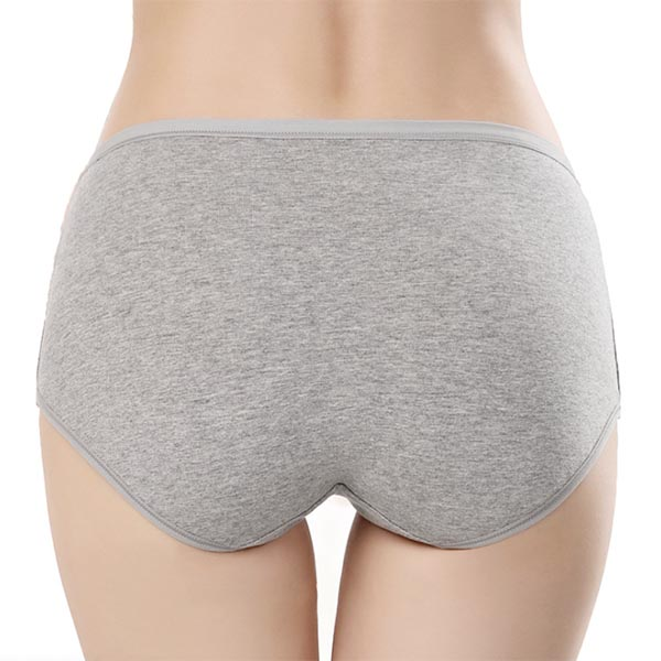 Classic Seamless Mid Rise Cotton Panties - back view