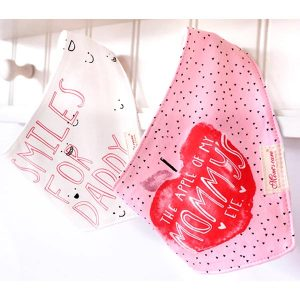 2 Piece Baby Bib Set - A07