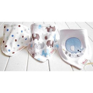 3 Piece Baby Bib Set - A08