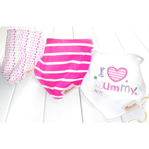 3 Piece Baby Bib Set - A10