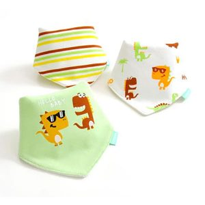 3 Piece Baby Bib Set - A14