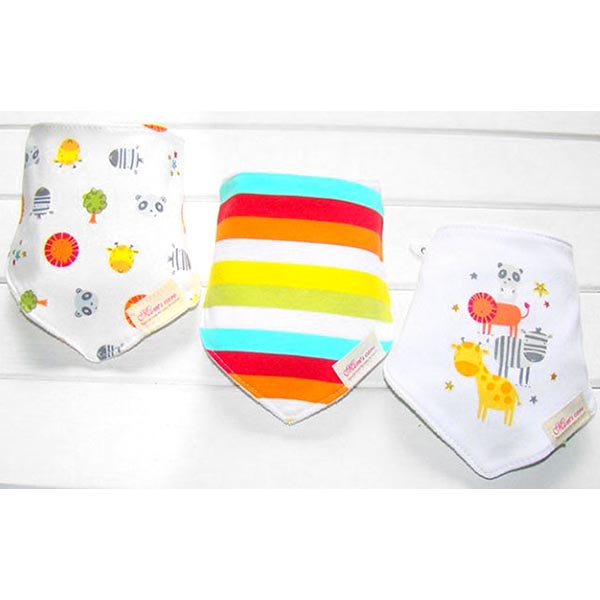 3 Piece Baby Bib Set - A16
