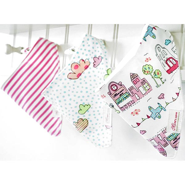 3 Piece Baby Bib Set - A18