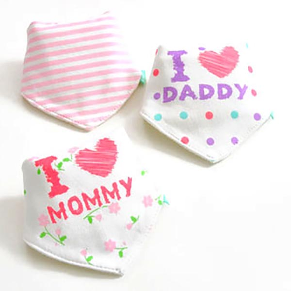 3 Piece Baby Bib Set - A19