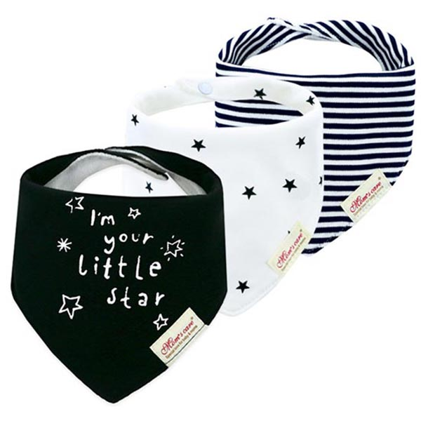 3 Piece Baby Bib Set - B03