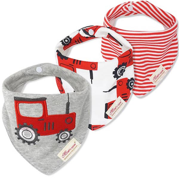 3 Piece Baby Bib Set - B07