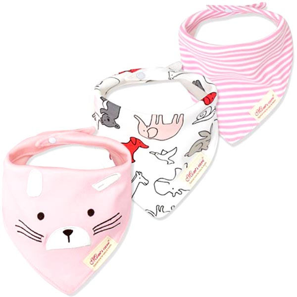 3 Piece Baby Bib Set - B08