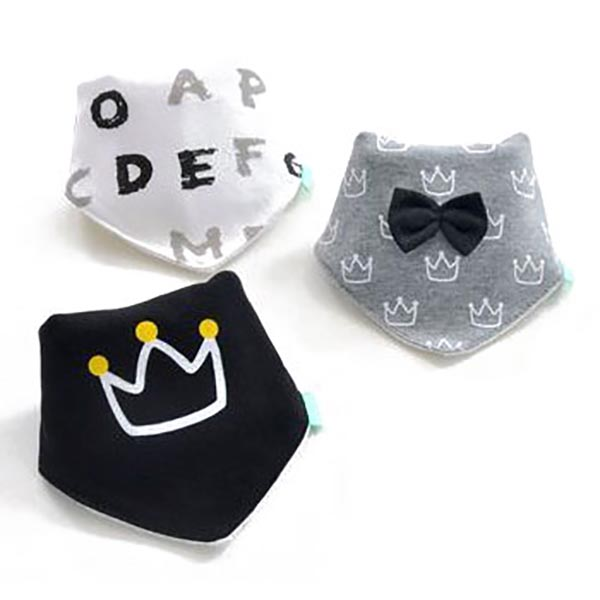 3 Piece Baby Bib Set - B14