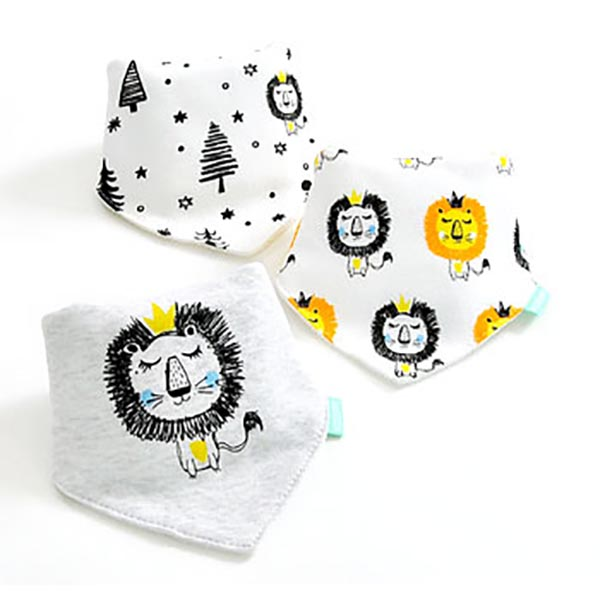 3 Piece Baby Bib Set - B16