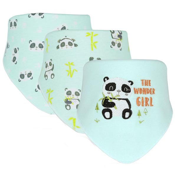 3 Piece Baby Bib Set - B17