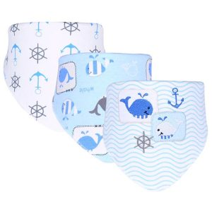 3 Piece Baby Bib Set - B18