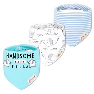3 Piece Baby Bib Set - C04