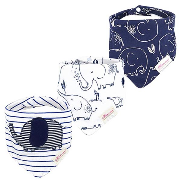 3 Piece Baby Bib Set - C06