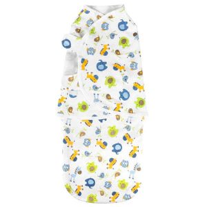 Baby Wrap Swaddle Zoo Blue