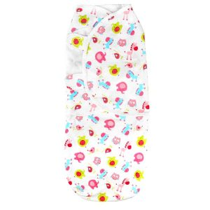 Baby Wrap Swaddle Pink Zoo