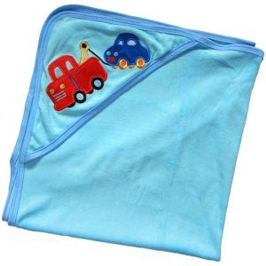 Baby Bath Towel with Hood - Vehicle