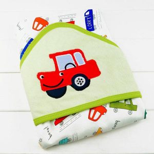 Hooded Baby Towel Blanket - Car