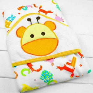 Hooded Baby Towel - Cow