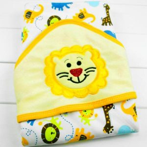 Hooded Baby Bath Towel - Lion