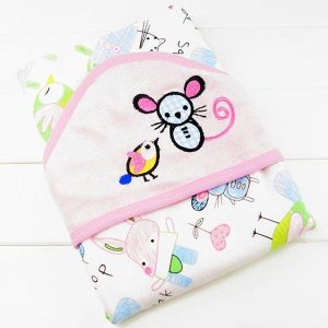 Hooded Baby Towels - Mouse