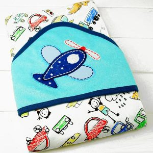 Hooded Baby Bath Towel - Aircraft