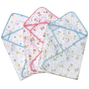 Hooded Muslin Baby Bath Towel / Blanket