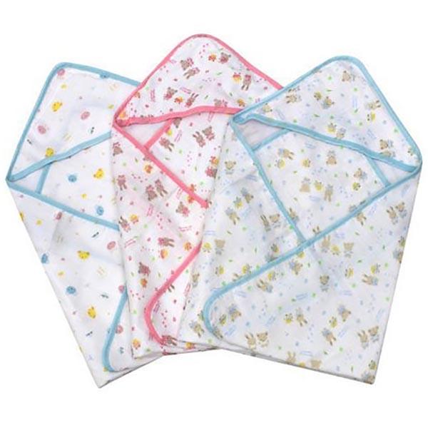 Hooded Muslin Baby Bath Towel / Blanket