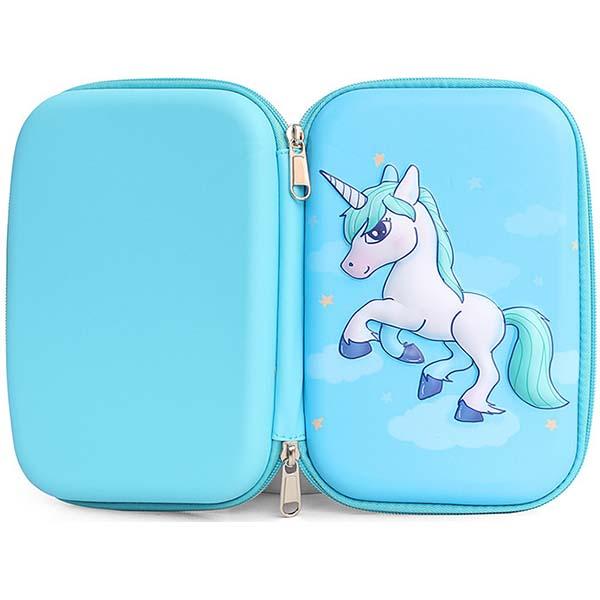 Cute Unicorn Pencil Case - full view