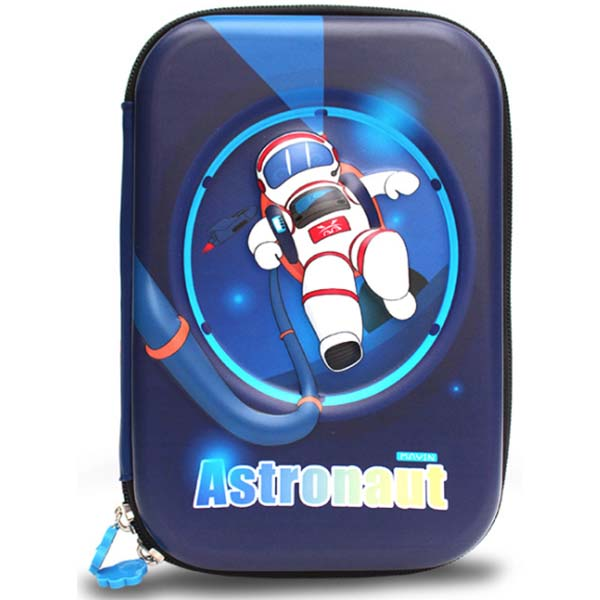 Large Pencil Case with Cartoon Astronaut Print