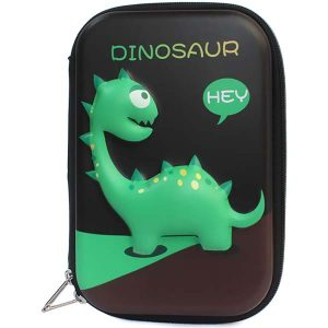 Cute Pencil Case with 3D Cartoon Dinosaur Print