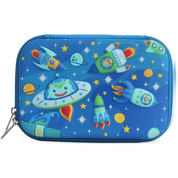Large Pencil Case Spaceship Print