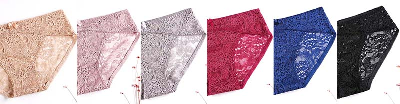 Sexy Jacquard Lace Panties Colours